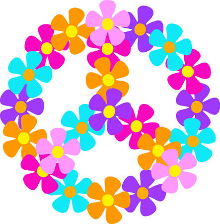 hippies: Show your support for peace and love.  Not just for those 60s Hippies anymore, retro is full in style.  Send this to someone special.  They will love it!
