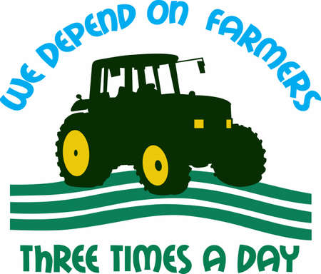 providing: Farmers are the backbone of our society providing our foods. Illustration