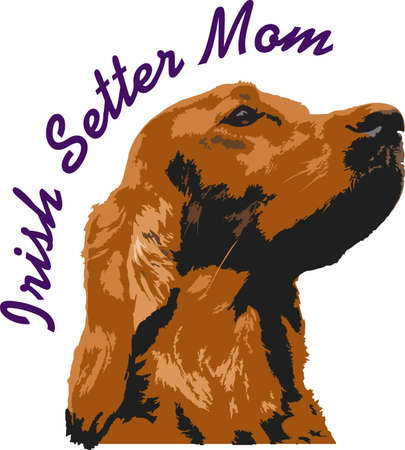 setter: My best friend is hard at work for me.  Show everyone how much your dog means to you.  They will love it! Illustration