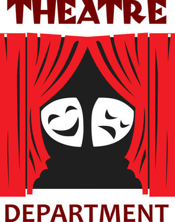 This is the perfect design to promote the theatre.  They will love this design to show their talent! Ilustração
