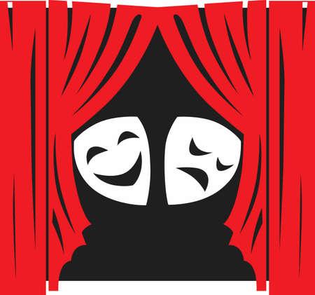 극장을 홍보하기에 완벽한 디자인입니다. 그들은 그들의 재능을 보여주기 위해이 디자인을 사랑합니다!
