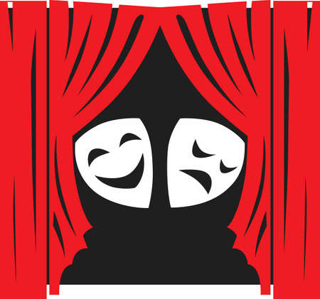 masque: This is the perfect design to promote the theatre.  They will love this design to show their talent! Illustration