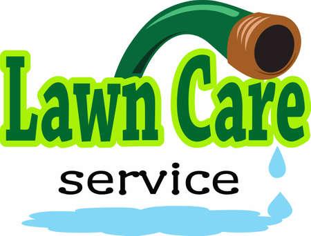 Uw gazon care service besteedt veel zorg van uw tuin. Dit is een perfect ontwerp om hen te bedanken. Stock Illustratie
