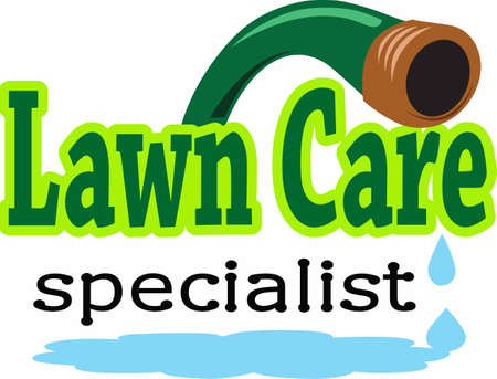 Your lawn care service takes great care of your yard.  This is a perfect design to thank them.