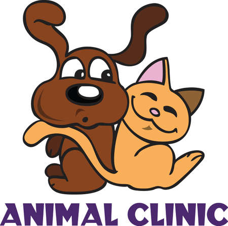 A veterinarian and their assistants love and care for animals.    Illustration