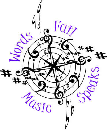 soul music: Where words fail, music speaks to the soul.  They will love this design to show their musical talent!