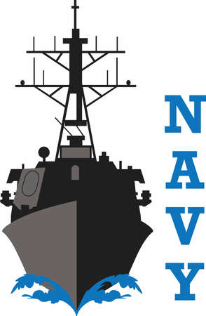 destroyer: Let them know you are proud of your Navy hero.  Show support for our troops with this special design.