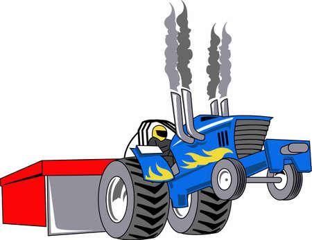 男性は、大きなマシンをドライブし、それらは大声で大好きです。