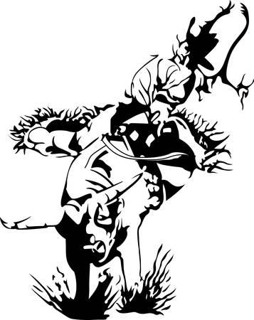 Pak je laarzen en cowboyhoed en ga naar de rodeo. Vergeet niet om dit schattige ontwerp voor uw favoriete cowboy te geven. Hij zal het geweldig vinden! Stockfoto - 45296628
