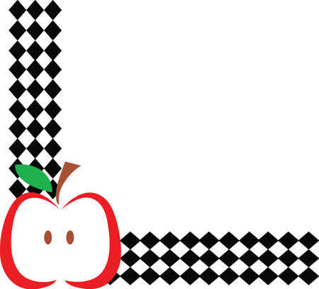 Decorate your kitchen with this classic apple design.