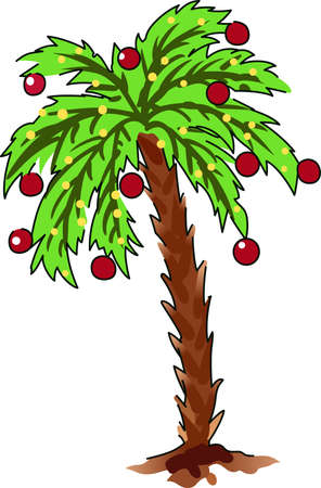 tannenbaum: Decorate for a tropical holiday with a pretty palm tree.