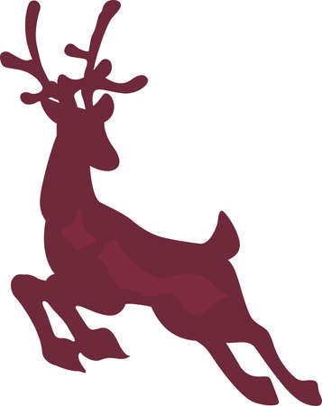 A lovely reindeer is a classic holiday decoration.