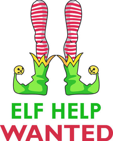 Decorate for a the holidays with silly elf legs.