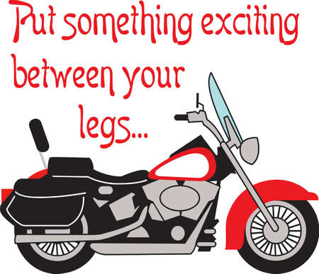 motorized: Motorcycle riders will love this beautiful bike.
