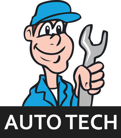 auto service: You entrust your car to your mechanic.  This design is perfect for thanking them! They will love it! Illustration