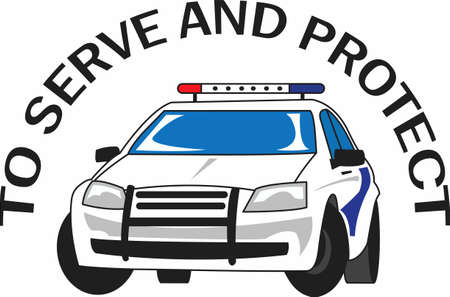 motorcar: You entrust your safety to police officers each day.  This design is perfect for thanking them! They will love it!
