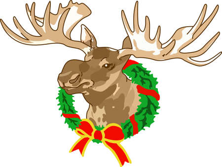 Decorate for a the holidays with a Christmas moose.