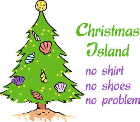 tannenbaum: Decorate for a the holidays with a tropical Christmas tree.