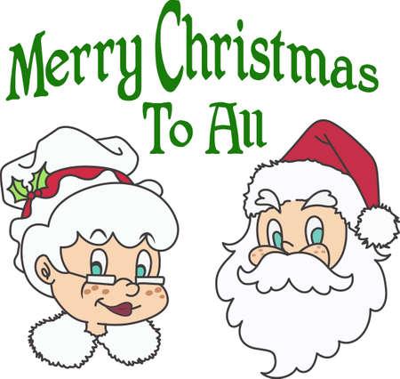 Decorate for a the holidays Mrs. Clause. Illusztráció