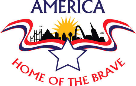 Be patriotic with and American city theme design.