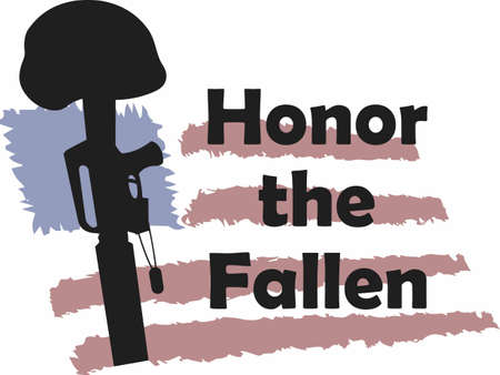 fallen: Honor the fallen soldier for their greatest sacrifice.   Illustration