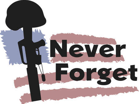 Honor the fallen soldier for their greatest sacrifice.   Vectores