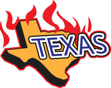 like it: BBQ in Texas, we like it spicy!   Illustration