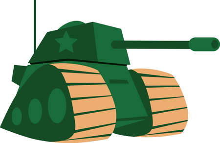 armed force: A tank makes a great military themed project. Illustration