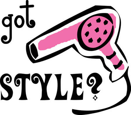 A fun design for your hairstylist.