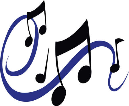 swish: Beautiful music notes will enhance and design. Illustration