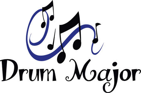 swish: Beautiful music notes will enhance and design. Illustration