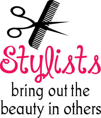 swish: Make a lovely design for a hair stylist to show off their craft.