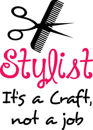 Make a lovely design for a hair stylist to show off their craft.