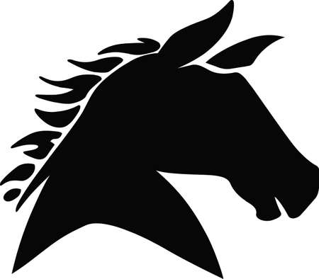 Horse lovers will like this lovely horse head silhouette.