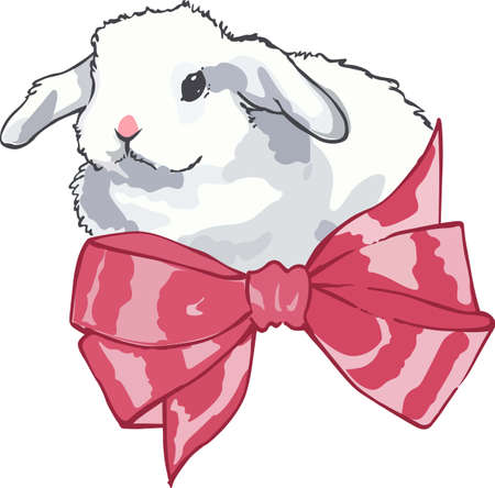 riband: An adorable bunny is a classic Easter decoration.