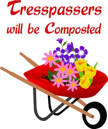 embellish: Embellish your favorite gardeners smock or shirt with this spring design