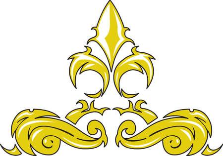 lily symbols: A beautiful fleur de lis is a wonderful French decoration.