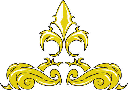 A beautiful fleur de lis is a wonderful French decoration.