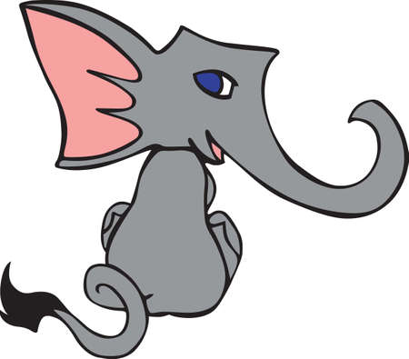 pachyderm: Put this cute elephant on a baby project for a little kid.