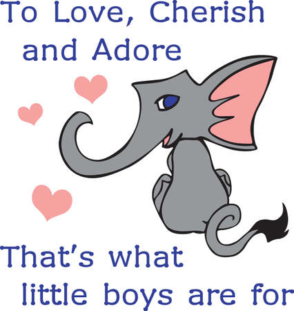 Put this cute elephant on a baby project for a little kid.