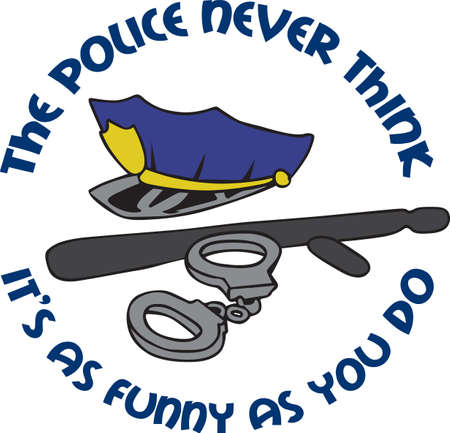billy: A policeman will appreciate a police themed project. Illustration
