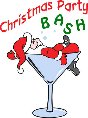 Show off your sense of humor with a drunken holiday character. Banco de Imagens - 45298828