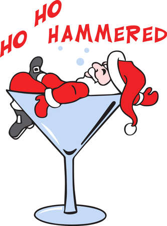 Show off your sense of humor with a drunken holiday character.