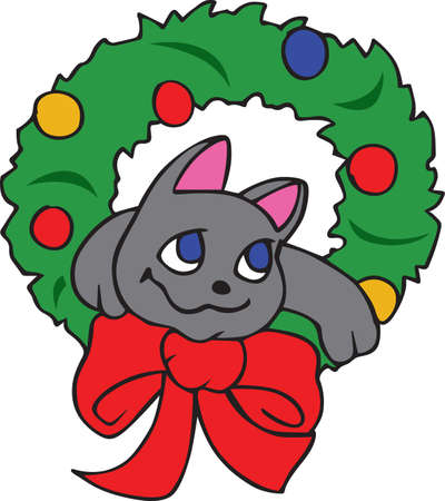Show off your sense of humor with a silly holiday cat. Banco de Imagens - 45298879