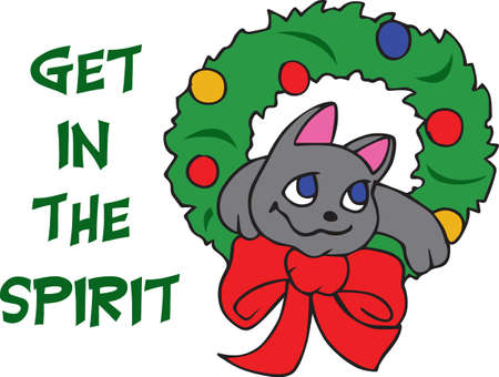 Show off your sense of humor with a silly holiday cat.