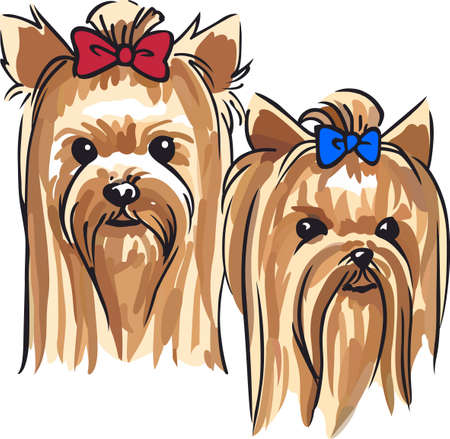 pure bred: Show your love for your dog with a cute yorkie design.