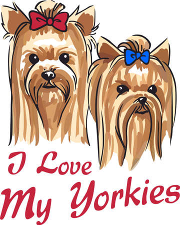 Show your love for your dog with a cute yorkie design.