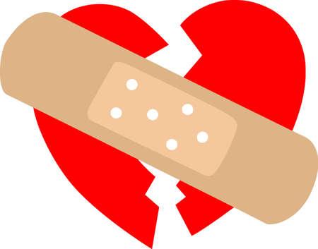 Mostra il tuo cuore spezzato con un San Valentino benda. Archivio Fotografico - 45299169