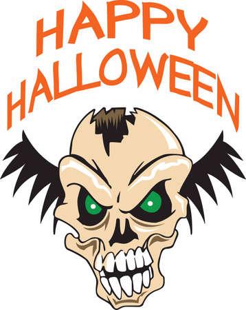 cranium: All halloween decorations need a scary skull. Illustration