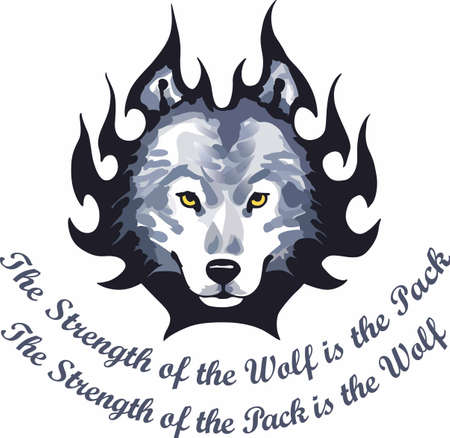 canis: Wolf lovers will want this handsome wolf head.
